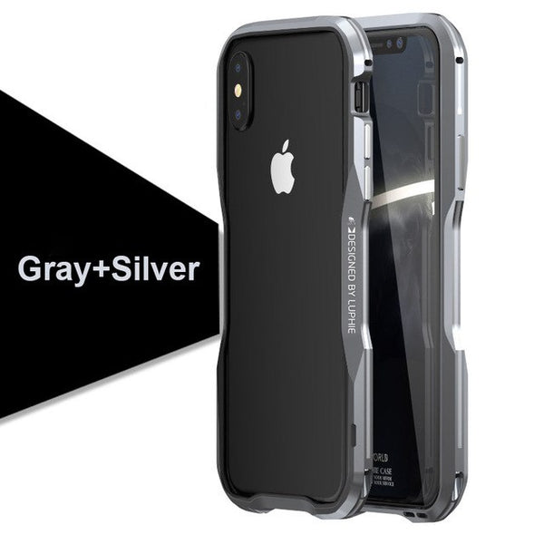 Phone Accessories - Fashion Aluminum Metal Bumper For Apple iPhone X 8 7 Plus