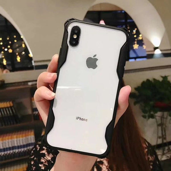 Phone Accessories - Luxury Armor Waist Frame 2 in 1 Case For iPhoneX XS MAX XR 8 7