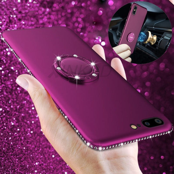 Magnetic Finger Ring Kickstand Protection Shockproof Case For iPhone XS XR XS Max 8 8plus