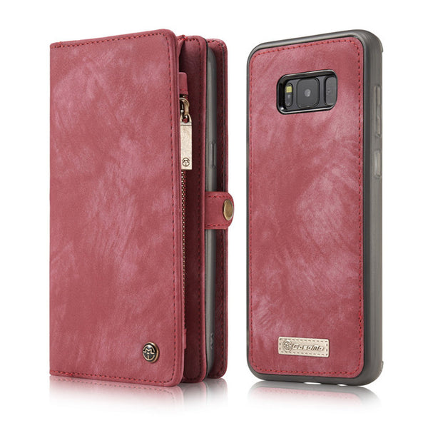 more photos 60e85 a472a Phone Case - Luxury Genuine Leather Flip Cover Magnetic Wallet Phone Bag  For Samsung S8/S9