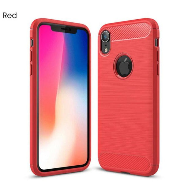 Phone Case -Luxury Carbon Fiber Soft TPU Silicone Shockproof Phone Case For iPhone X/XS/XR/XS Max