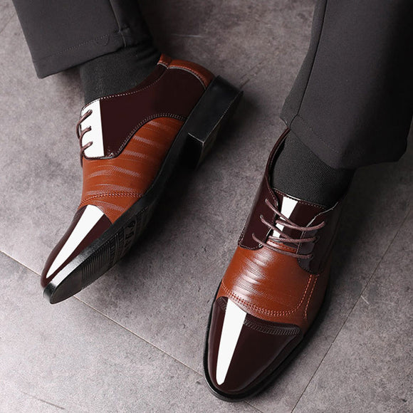 Luxury Business Oxford Leather Shoes Men Breathable Rubber Formal Dress Shoes(Buy 2 Get 10% OFF, 3 Get 20% OFF)