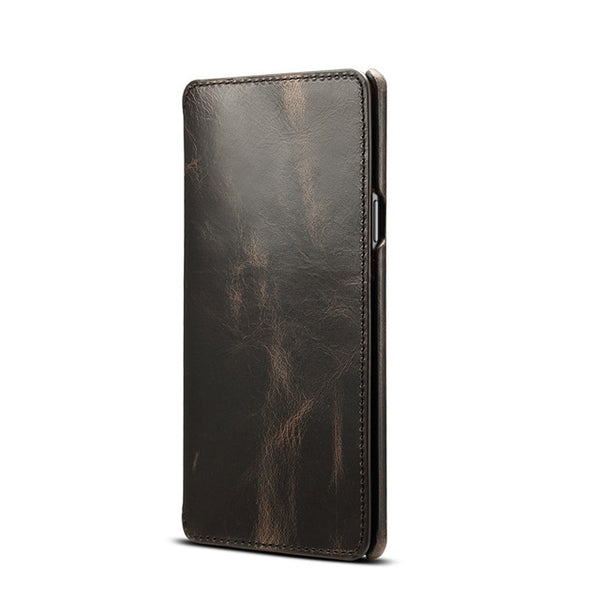 Genuine Leather Cowhide Wallet Flip Case For Samsung Galaxy S8 S9 Plus Note 8 9