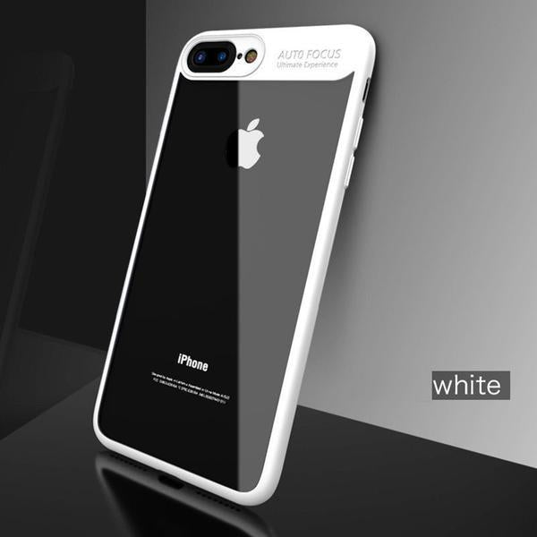 Phone Case - Ultra Thin Full Protective TPU & Acrylic Transparent Back Cover For iPhone 7/7 Plus 6/6S Plus