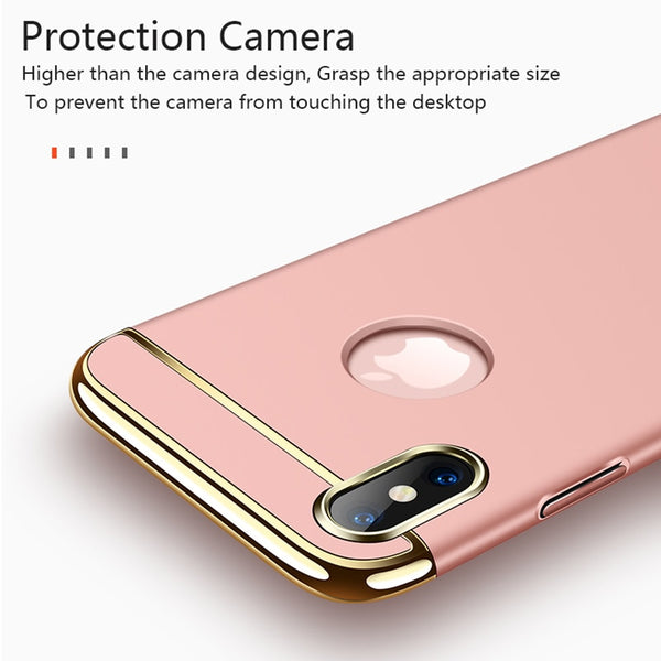 Phone Case - 360 Degree Full Protect 3 IN 1 Phone Cover Cases For iPhone