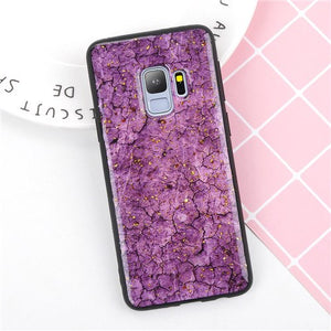 Phone Case - Luxury Glitter Gold Foil Sequins Marble Phone Case For Samsung Galaxy S9/S8 Plus Note 9/8