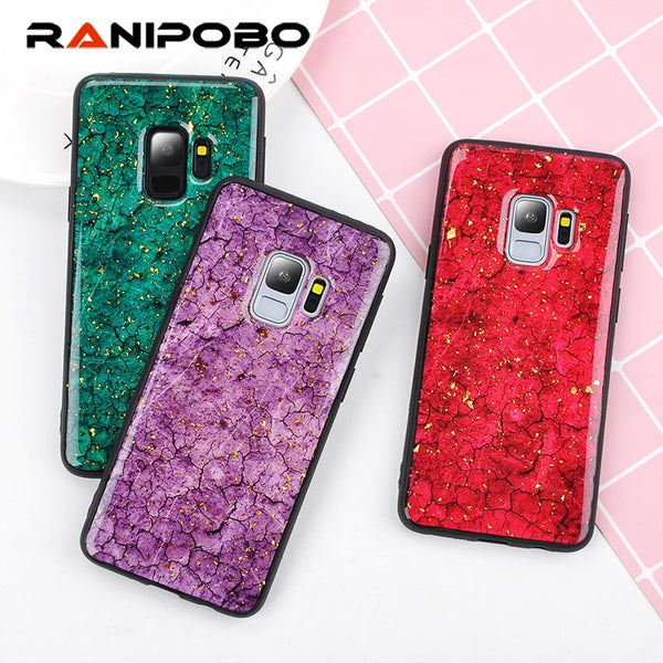 huge discount 37215 74645 Phone Case - Luxury Glitter Gold Foil Sequins Marble Phone Case For Samsung  Galaxy S9/S8 Plus Note 9/8