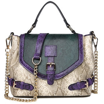Bag - Artificial Snake Leather Tote Bag
