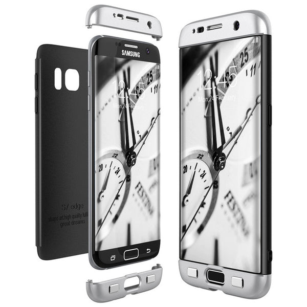 Phone Case - Luxury 3 in 1 Full Body Cover Hard PC Phone Case For Samsung Galaxy S9/S8 Plus Note 8