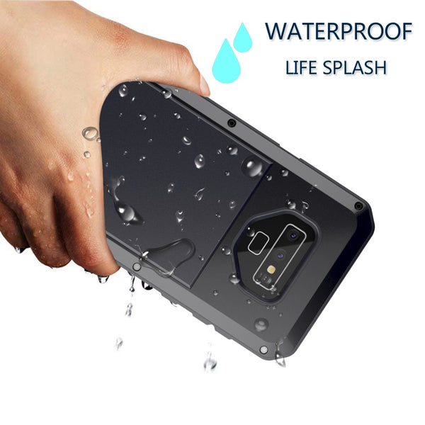 uk availability a5897 8c37c Luxury Doom Armor Dirt Shock Waterproof Metal Aluminum Phone Case For Note  9 + Tempered Glass(Buy 2 Got 10% off, 3 Go15% off Now)