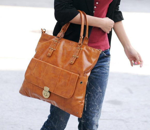 100% PU Leather Vintage Fashion Shoulder Bag