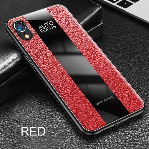 timeless design cd04c f30a0 Luxury Soft Leather Bumper Case For iPhone X XR XS Max
