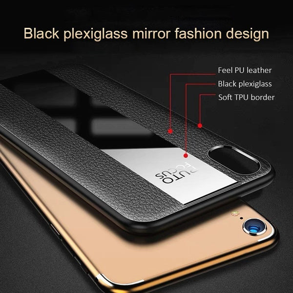 Luxury Soft Leather Bumper Case For iPhone X XR XS Max