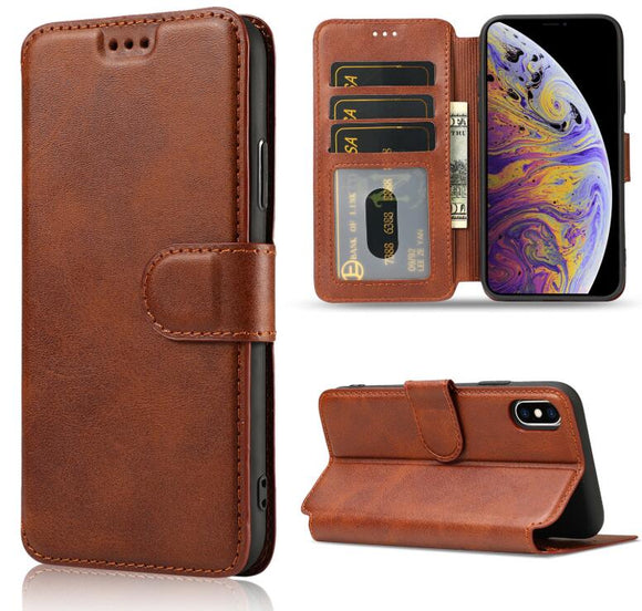 Phone Case - Luxury Leather Wallet Flip Cover For iPhone 11 Pro Max