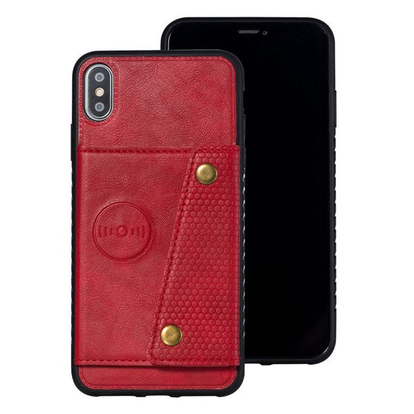 Wallet Leather Car Magnetic Case For iPhone 6/6S/7/8 Plus/ X/XS MAX/XR
