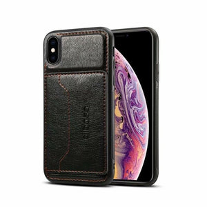 Luxury Leather Card Holder Case For iPhone X XS Max XR 87 Plus