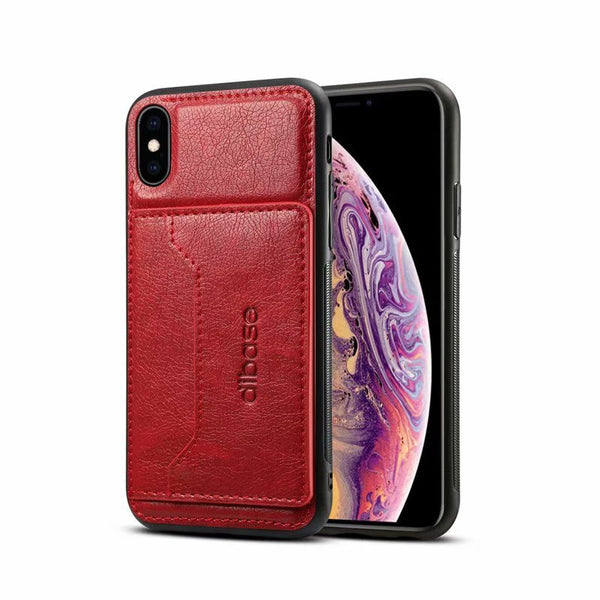 Luxury Leather Card Holder Back Cover Case For iPhone X XS Max XR 87 Plus