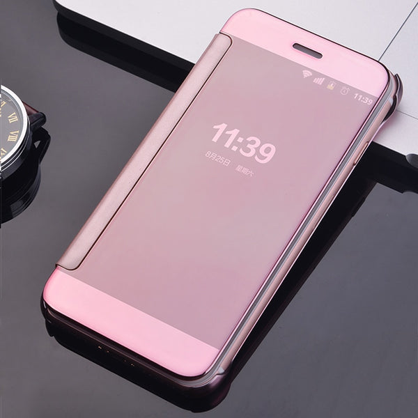 release date: 80aa4 63a0d Luxury Plating Mirror Flip Case For Samsung S7 Edge S8 S9+ Note 8 9