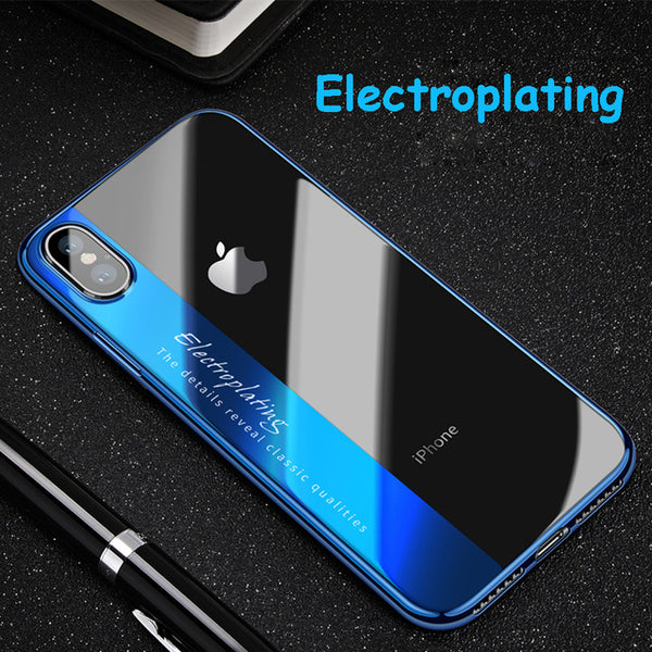 super popular 7333d a5fae Phone Accessories - Luxury Plating Soft Clear Shockproof Full Protection  Phone Case For iPhone XS Max XR XS X 8 7 Plus