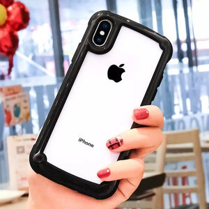 Phone Accessories - Luxury Shockproof Armor Transparent Case For iPhone
