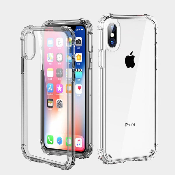Phone Case - Luxury Clear Transparent Shockproof Bumper Protective Phone Case For iPhone XS/XR/XS Max 8/7 Plus