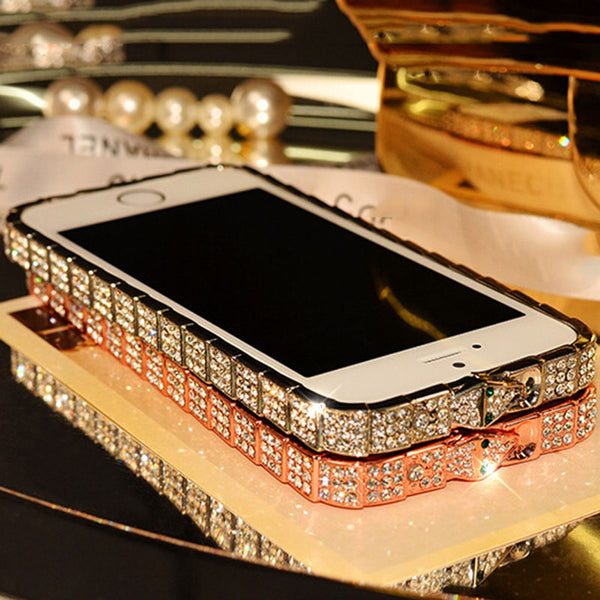Luxury Metal Diamond Frame Case for iPhone
