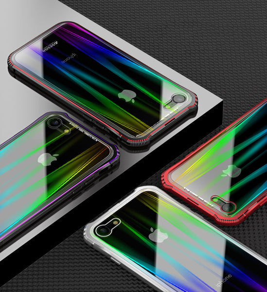 Phone Accessories - New Luxury Laser Aurora Colorful Case For iPhone