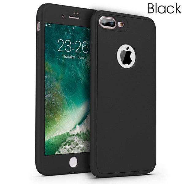Phone Case  - Luxury Soft TPU Silicone 360 Full Cover Cases For iPhone