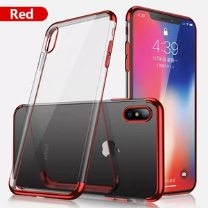 Phone Case - Luxury Ultra Thin Plating Shing Transparent Soft TPU Silicone Phone Case For iPhone X/XR/XS/XS Max