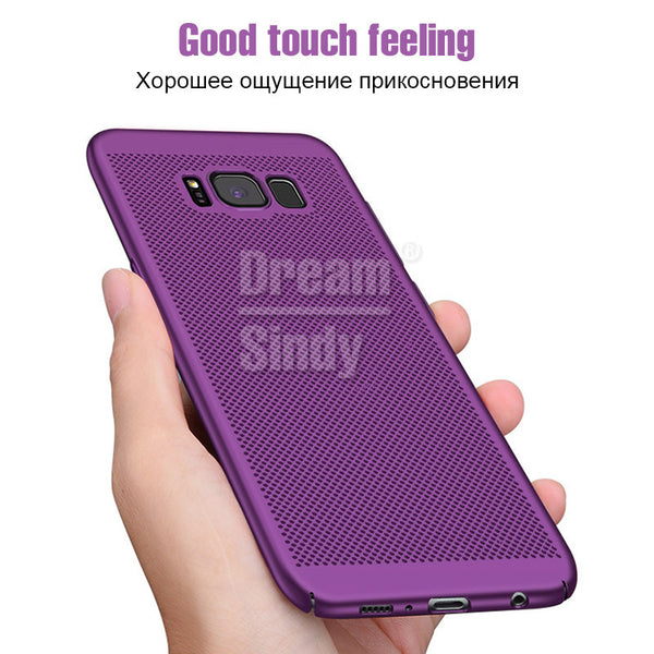Phone Accessories - Hard PC Matte Full Cover Heat Dissipation Case For Samsung Galaxy S8 S9 Plus NOTE 8 S6 S7 Edge