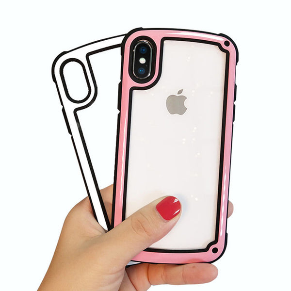 Phone Case - Luxury Hybrid Corner Anti-drop Design Shockproof Phone Case For iPhone X/XS/XR/XS Max 8/7/6S Plus