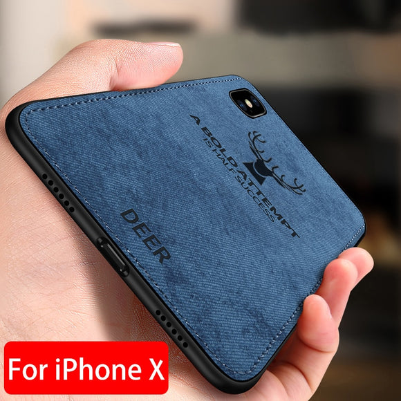 Ultra Thin Cloth Soft Case For iPhone Series
