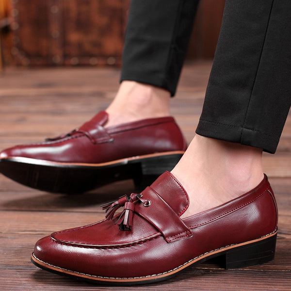 Fashion Leather Casual Tassels Slip-On Driver Dress Wedding Loafers