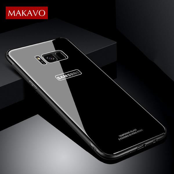Samsung Case - Tempered Glass Case for Samsung Galaxy S8/ S8 Plus/ Note 8