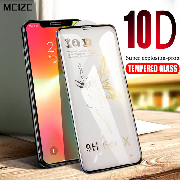 Phone Accessories - 10D Advanced Tempered Glass Screen Protection Film For iPhone