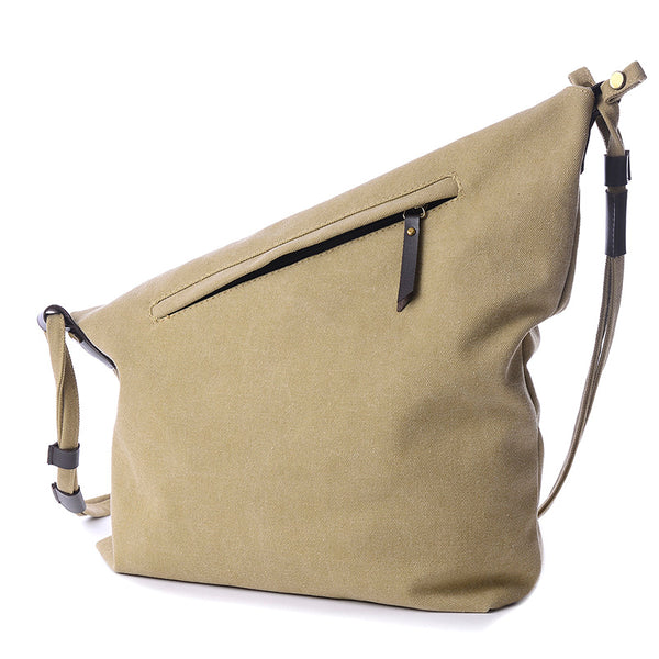 Bags - Women Canvas Messenger Bag Real Leather Vintage Shoulder Bag (Buy 2 for 10% off Buy 3 for 15% off!)