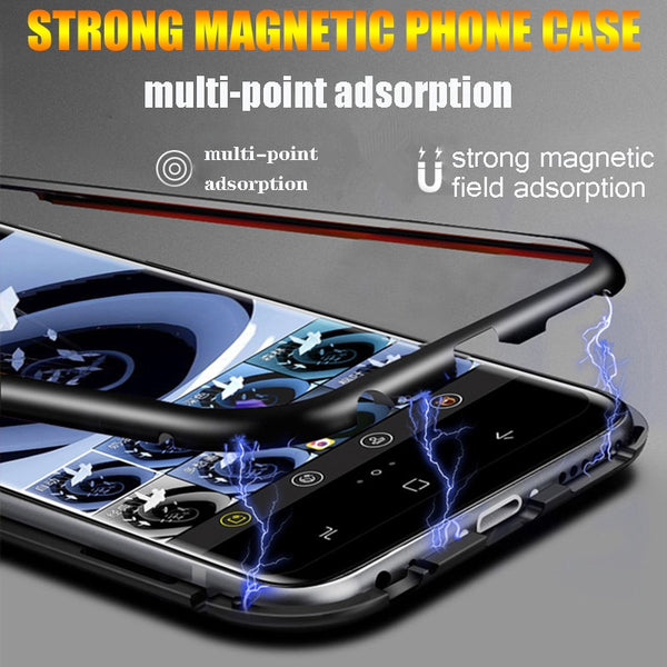 Magnetic Adsorption Metal Case For Samsung S9 S8 +