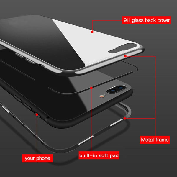 Phone Bags - Magnetic Adsorption Case for iPhone