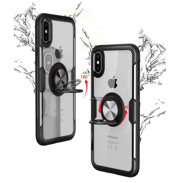 Anti-knock  Tempered Glass Case With Magnetic Car Holder For iPhone 6 6S 7 8 Plus X XS MAX XR