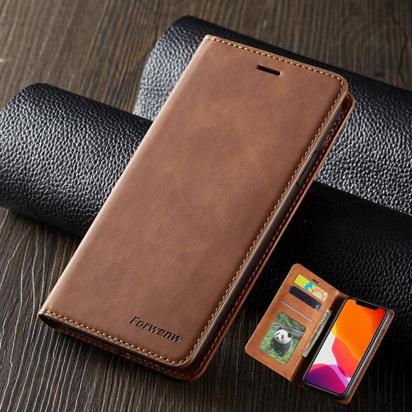 Luxury Magnetic Wallet Leather Case For iPhone