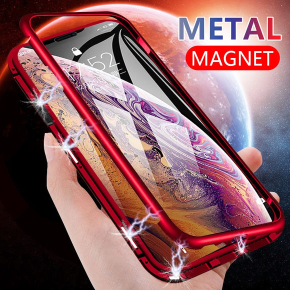 Phone Cases - Magnetic Thin Shockproof Tempered Glass Back Case Cover On The For IPhone XR XS Max X
