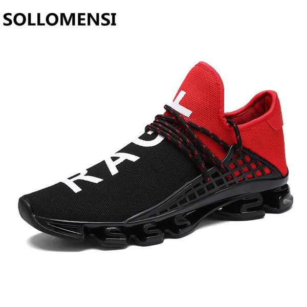 Shoes - Fashion Sport Jogging Trainers Breathable Black White Lover's Walking Shoes