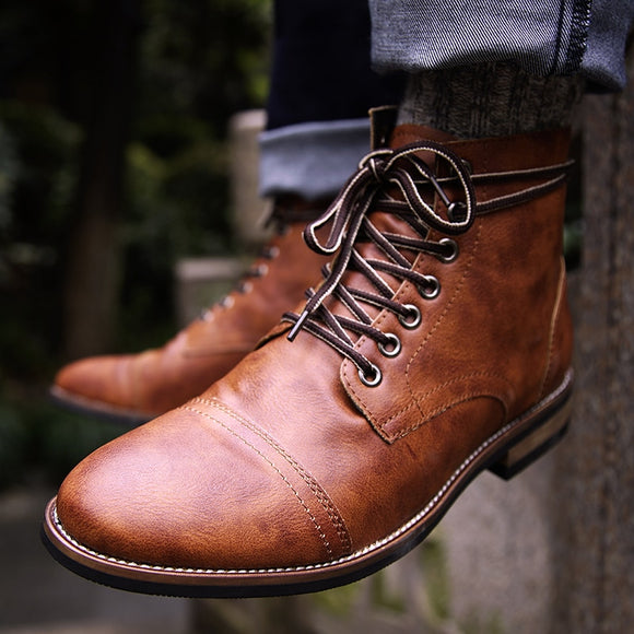 Men Pu Leather Lace-up High Quality Shoes