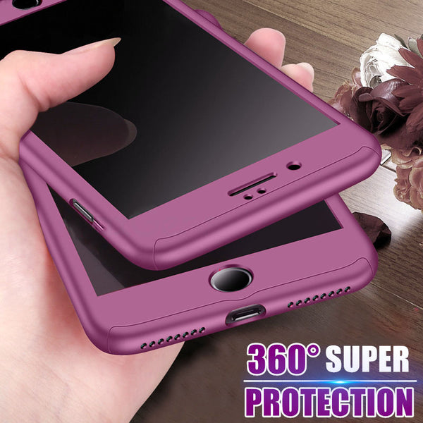 Phone Cases - Full Body Cover Case with Tempered Glass for iPhone(Buy 2, second one 20% off)