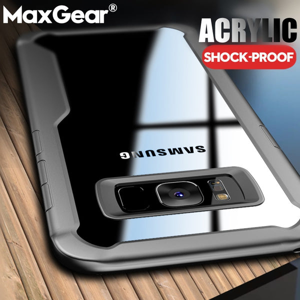 Phone Case - Transparent Shockproof Armor Case for Samsung Galaxy S9 S8 Plus Note9