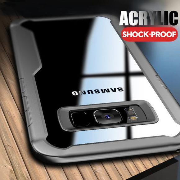 Phone Accessories - Transparent Armor Shockproof Case Samsung Galaxy S9 S8 Plus Note 8 9