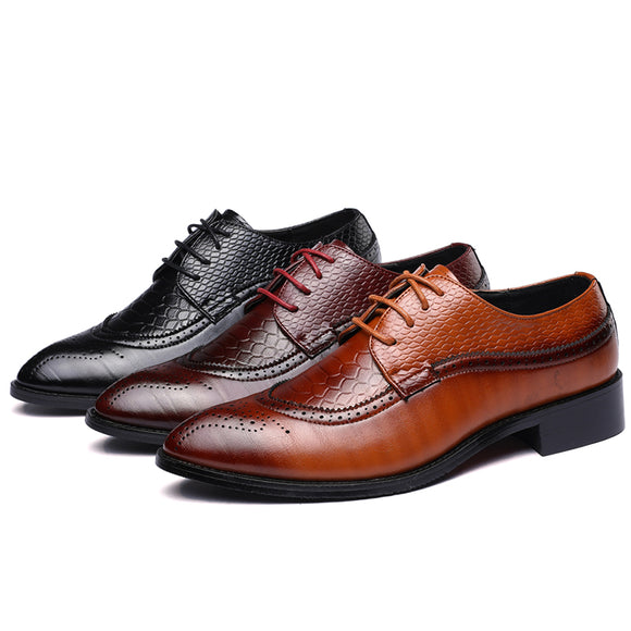 Shoes - Men Business Leather Formal Shoes