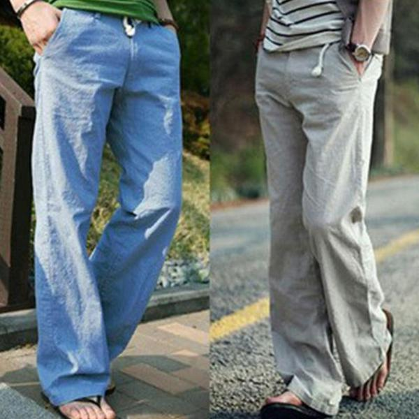 Casual Breathable Comfortable Linen Loose Beach Pants