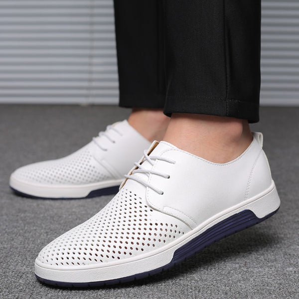 Shoes - Hot Sale Breathable Genuine Leather Men Shoes