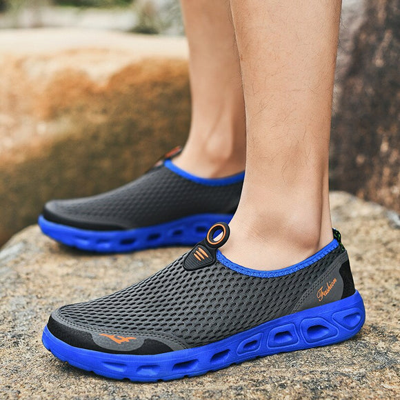 Men Sandals Air Mesh Lightweight Breathable Water Slip-on Shoes